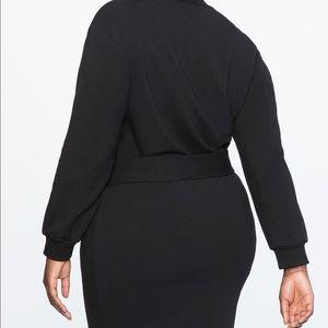Eloquii Dresses - Belted Mock Neck Dress